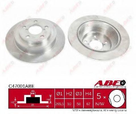 Диск тормозной ABE C47001ABE