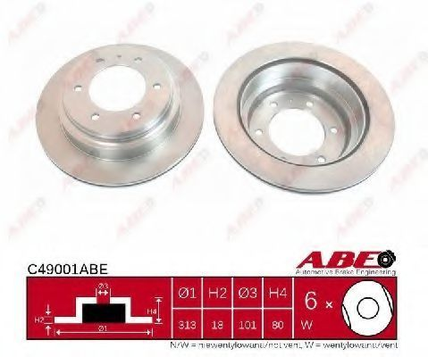 Диск тормозной ABE C49001ABE