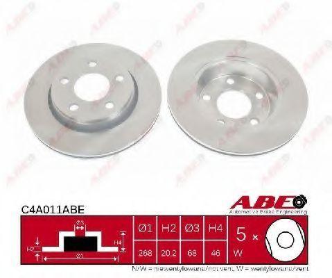 Диск тормозной задний ABE C4A011ABE