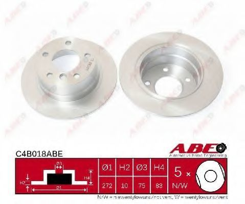 Диск тормозной ABE C4B018ABE