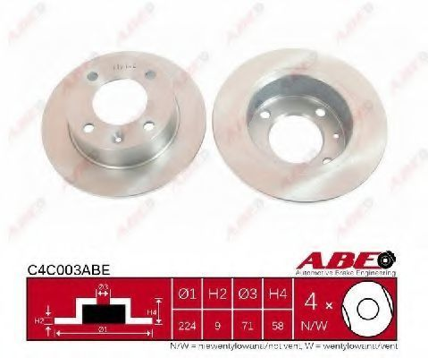 Диск тормозной ABE C4C003ABE