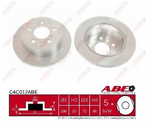 Диск тормозной ABE C4C012ABE