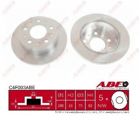 Диск тормозной ABE C4F003ABE