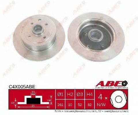 Диск тормозной ABE C4X005ABE