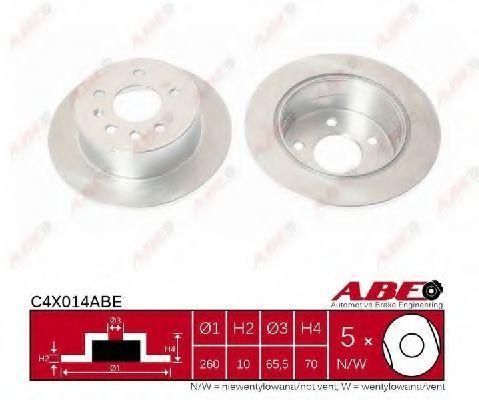 Диск тормозной ABE C4X014ABE