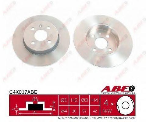 Диск тормозной задний ABE C4X017ABE