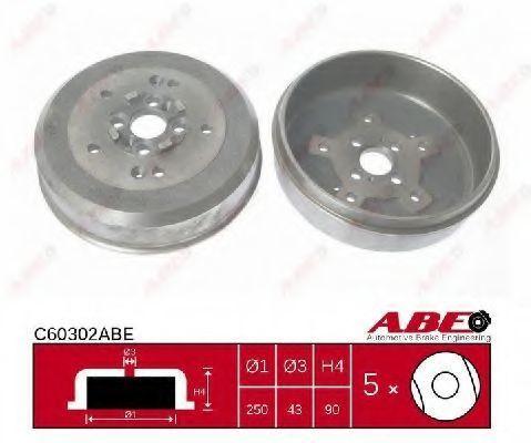 Барабан тормозной ABE C60302ABE