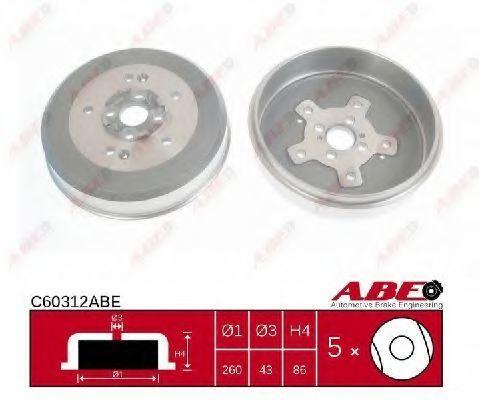 Барабан тормозной ABE C60312ABE