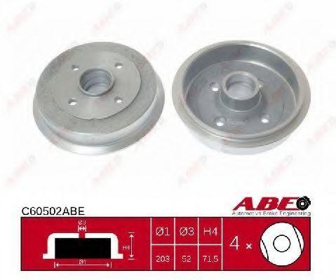 Барабан тормозной ABE C60502ABE