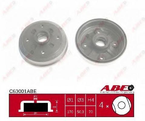 Барабан тормозной ABE C63001ABE