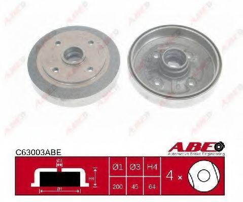Барабан тормозной ABE C63003ABE