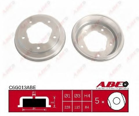 Барабан тормозной ABE C6G013ABE
