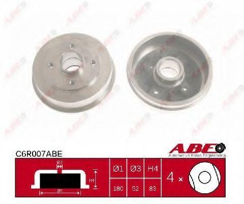 Барабан тормозной ABE C6R007ABE