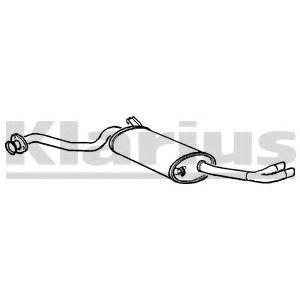 Глушитель выхлопных газов конечный KLARIUS 220019