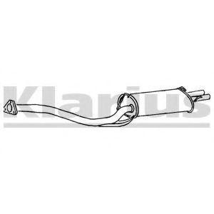Глушитель выхлопных газов конечный KLARIUS 250145