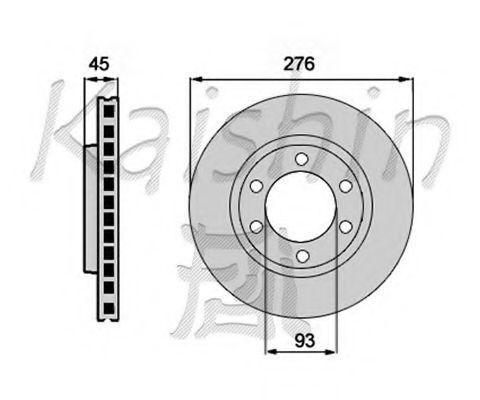 Тормозной диск KAISHIN CBR122