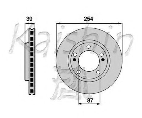 Тормозной диск KAISHIN CBR123