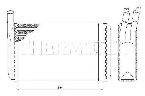 Радиатор отопителя салона THERMOTEC D6W003TT