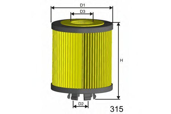 Фильтр масляный MISFAT L019