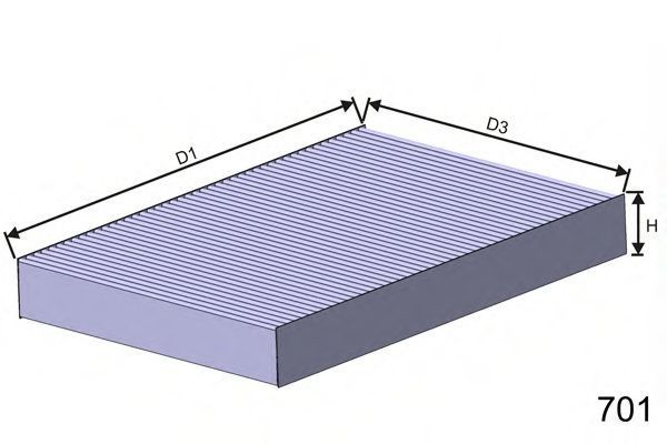 Фильтр салона MISFAT HB207