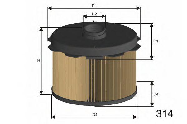 Фильтр топливный MISFAT FM646