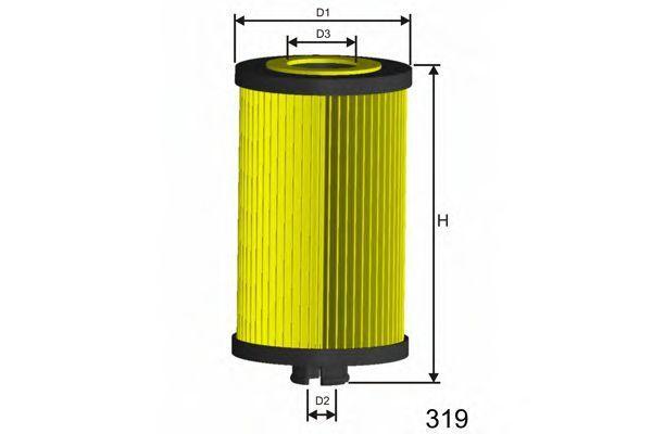 Фильтр масляный MISFAT L007