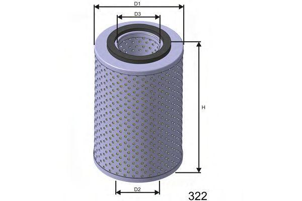 Фильтр масляный MISFAT L538