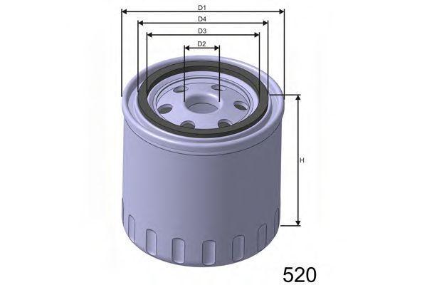Фильтр масляный MISFAT Z191