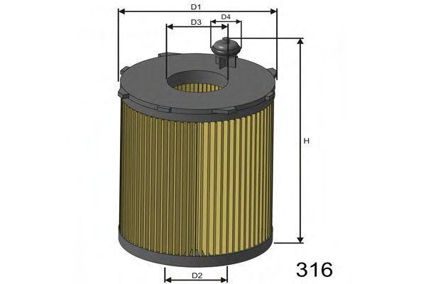 Фильтр масляный MISFAT L104