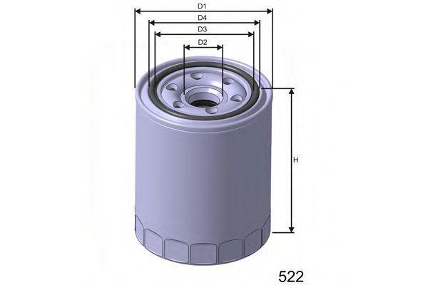 Фильтр масляный MISFAT Z461