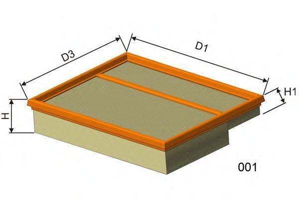 Фильтр воздушный MISFAT P037
