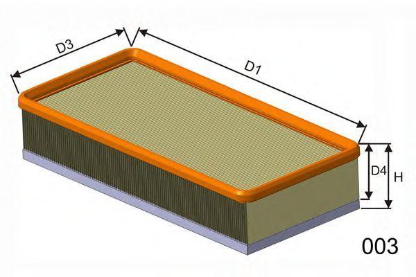 Фильтр воздушный MISFAT P991