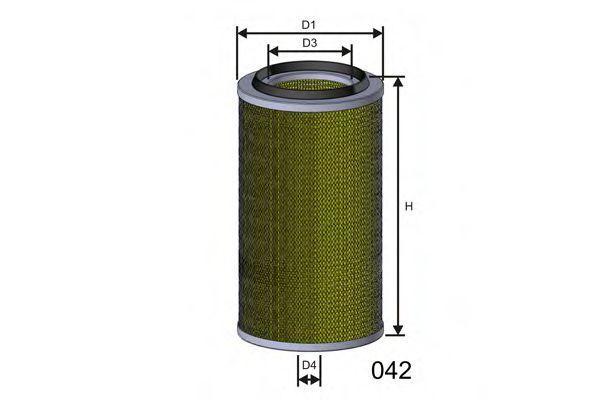 Фильтр воздушный MISFAT R804
