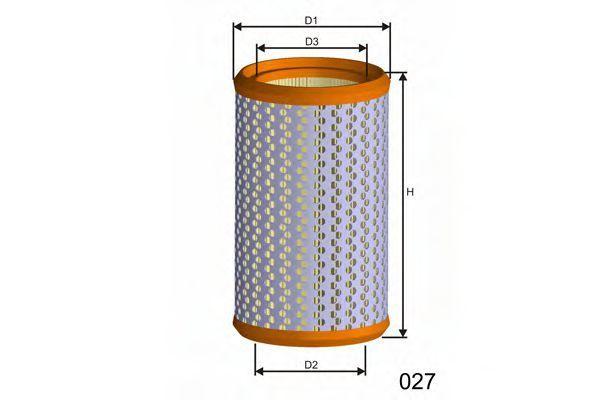 Фильтр воздушный MISFAT R824