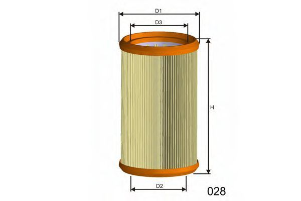 Фильтр воздушный MISFAT R257