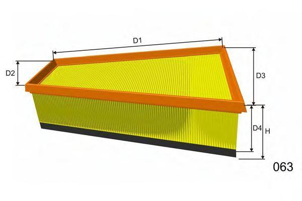 Фильтр воздушный MISFAT P543A