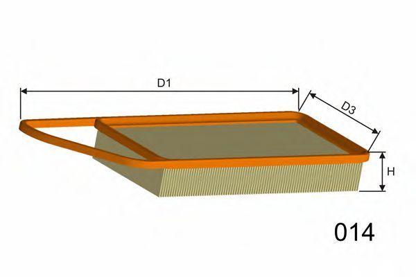 Фильтр воздушный MISFAT P426