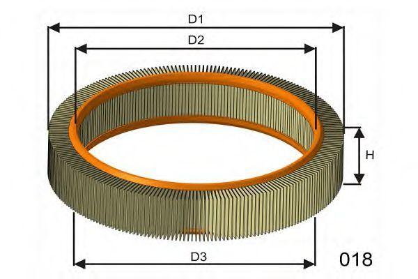 Фильтр воздушный MISFAT RM819