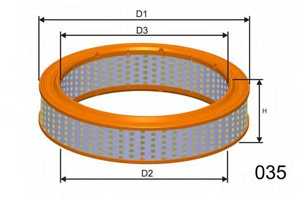 Воздушный фильтр MISFAT R707