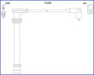 Провода высоковольтные комплект HUCO 134518