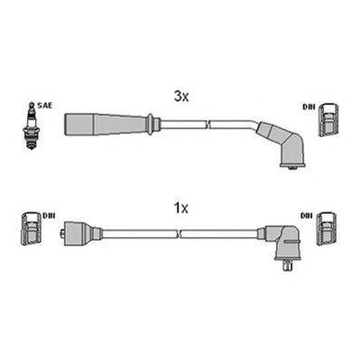 Комплект проводов зажигания HITACHI 134120