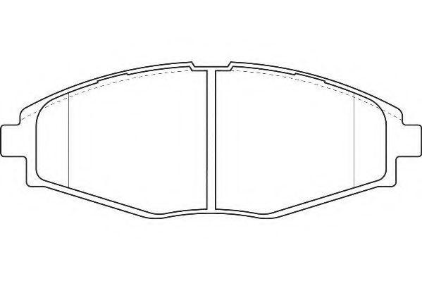 Колодки тормозные передние WAGNER WBP23241A