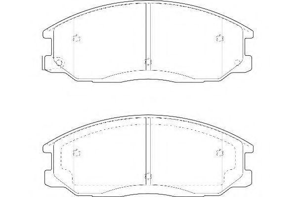 Колодки тормозные передние WAGNER WBP23569A