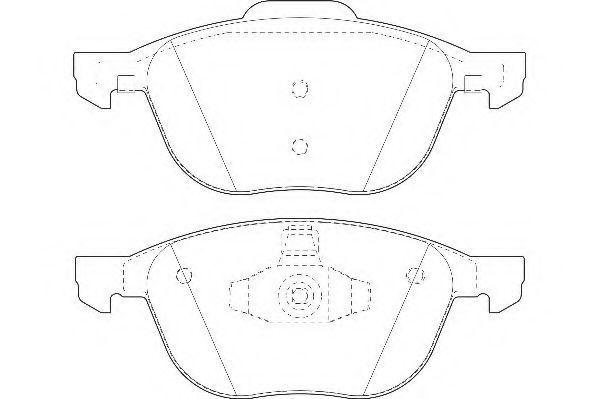 Колодки тормозные передние WAGNER WBP23723A