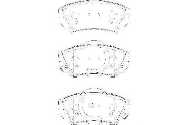 Колодки тормозные WAGNER WBP24412A