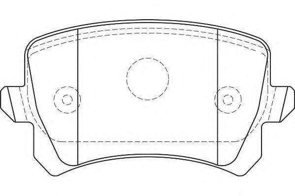 Колодки тормозные задние WAGNER WBP24483B