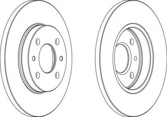Тормозной диск WAGNER WGR01251
