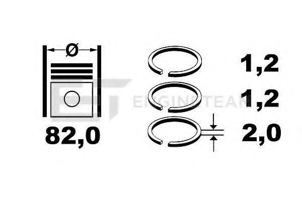 Комплект поршневых колец ET ENGINETEAM R1000100