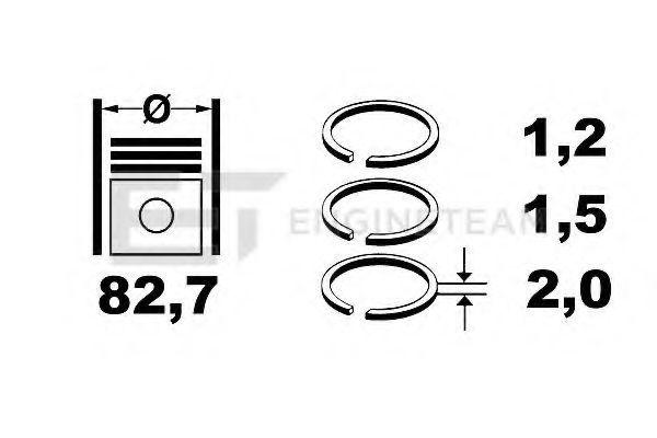 Кольца поршневые ET ENGINETEAM R1000900