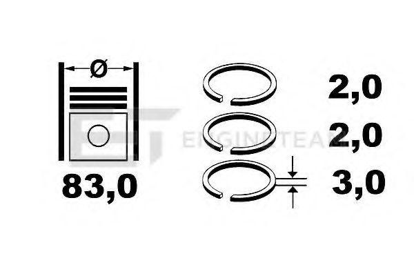 Кольца поршневые комплект ET ENGINETEAM R1002700